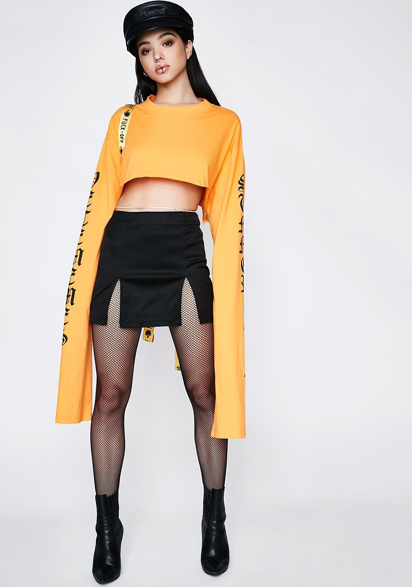 Poster Grl Slit It Up Mini Skirt