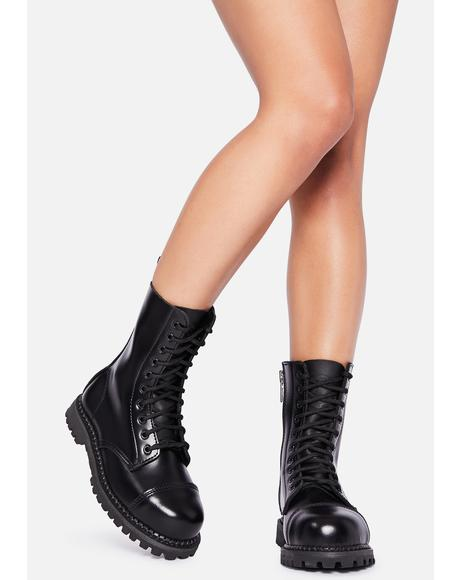 Leather Amped Up Lace Up Boots