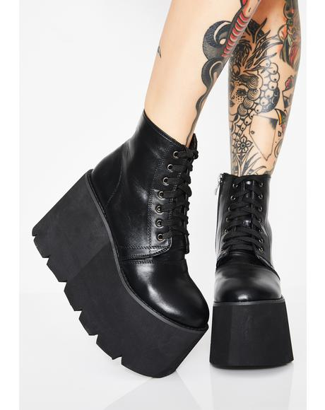 Wicked Comet Crash Platform Boots