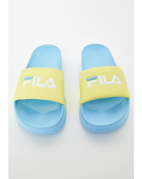 Blue N Lime Drifter Slide Sandals