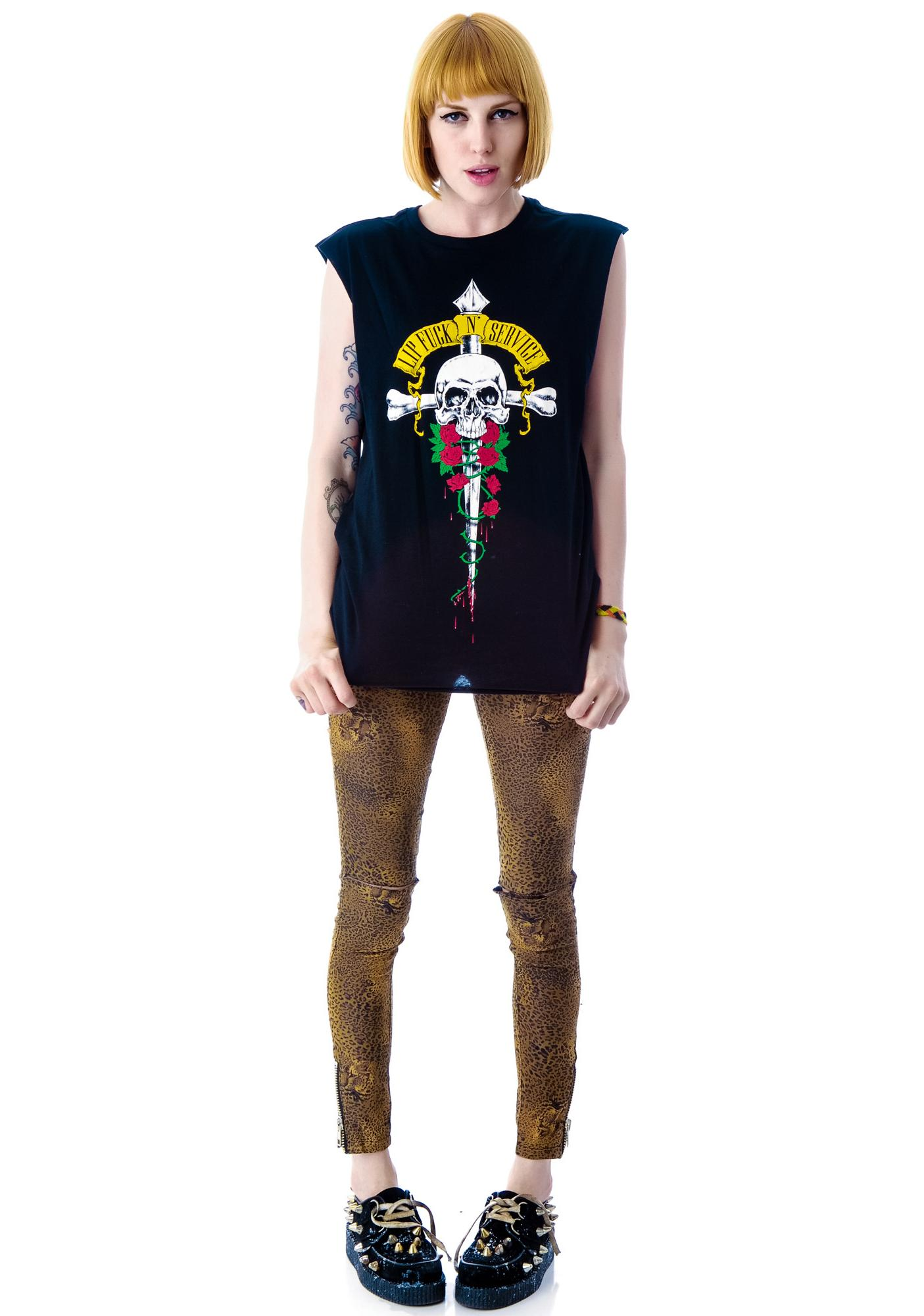 Lip Service Dagger Graphic Sleeveless Tee