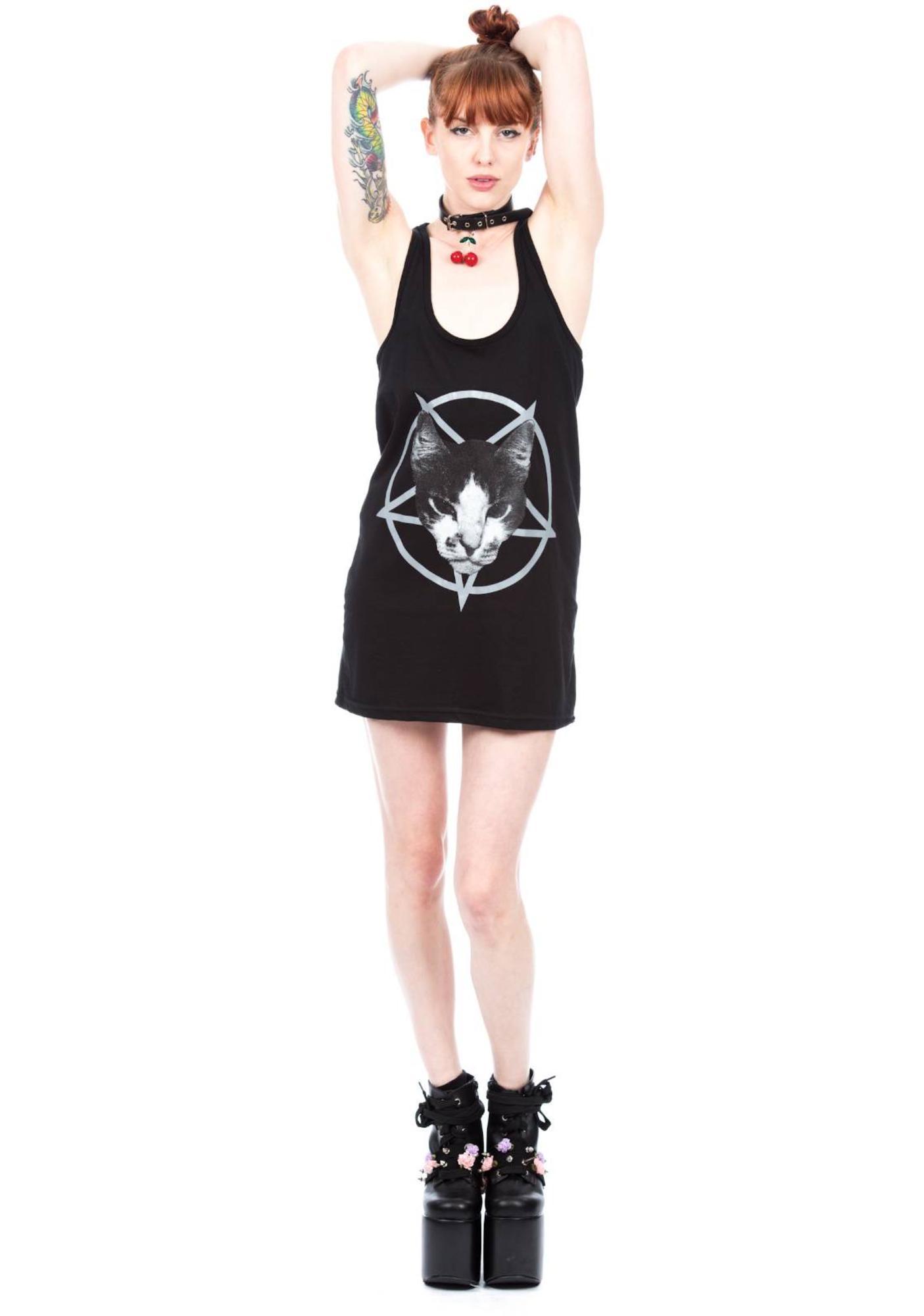Kitty Pentagram Tank Dress