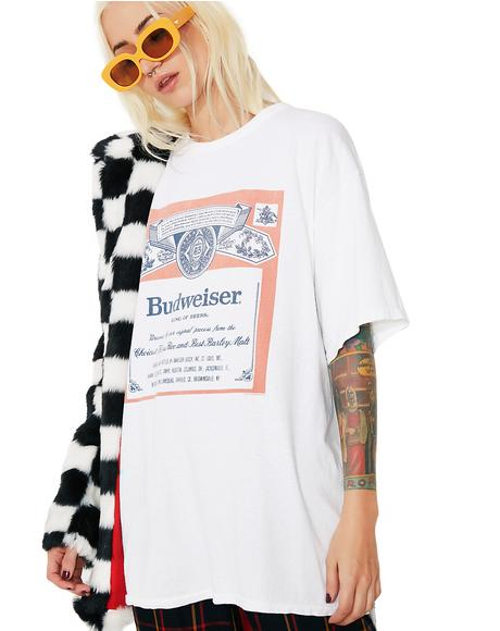 Budweiser Label Graphic Tee
