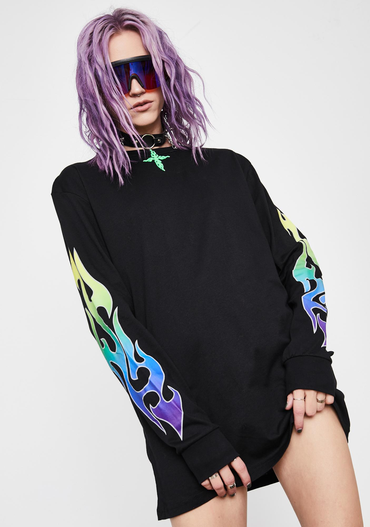 Current Mood Burning Prisms Graphic Tee