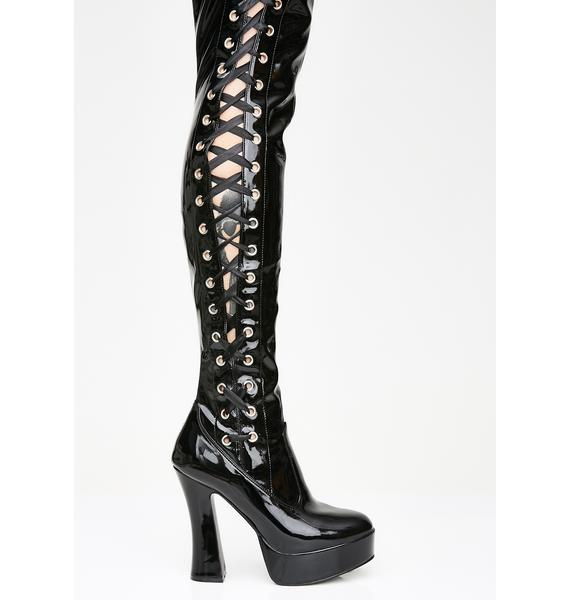 Pleaser Immoral Tendencies Thigh High Boots