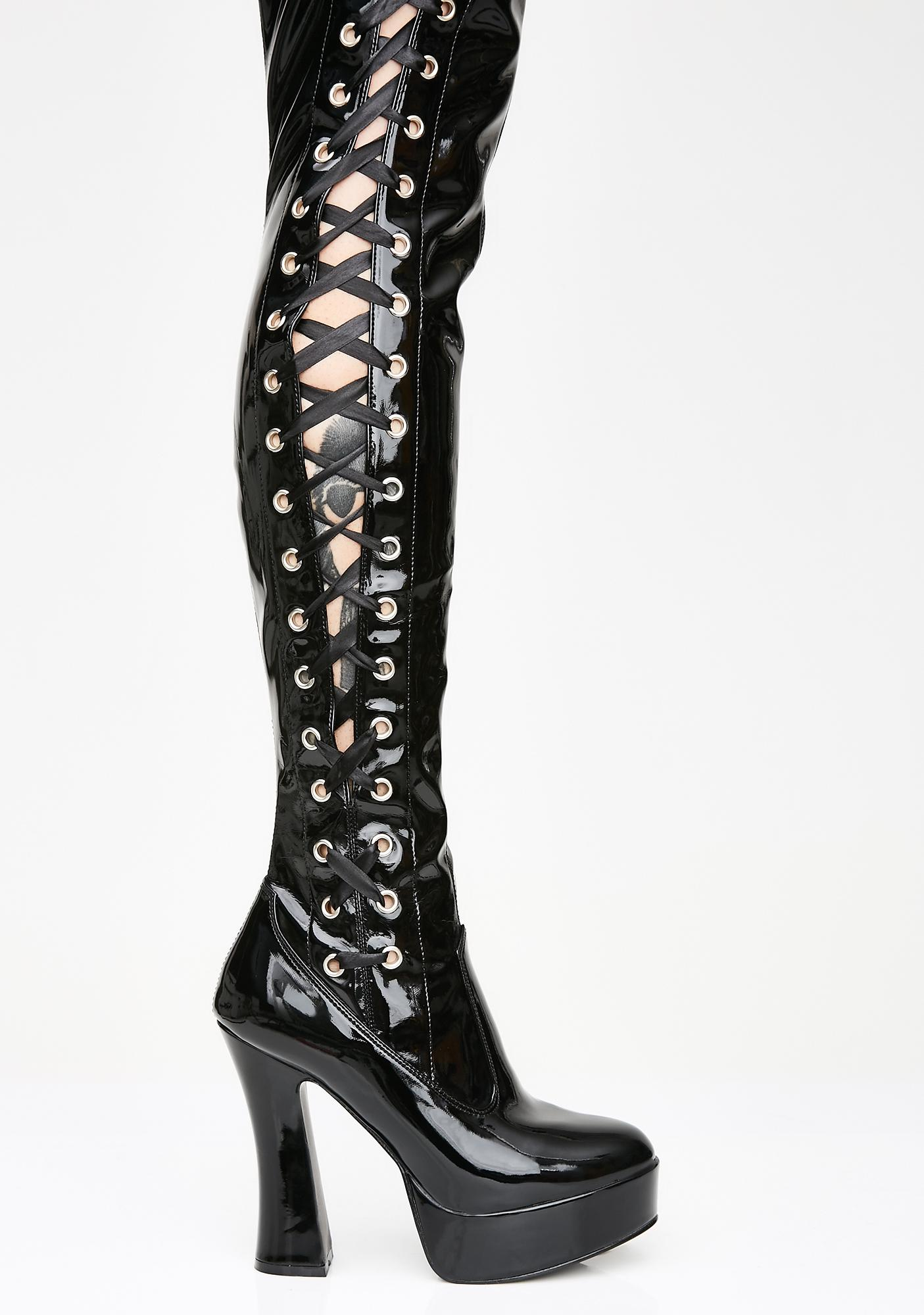 4f94528639c Pleaser Immoral Tendencies Thigh High Boots