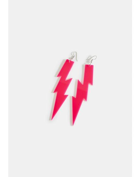 Sugar Feel The Electricity Lightning Bolt Earrings