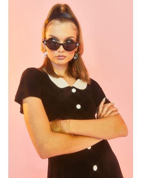 Noir Pretty Fierce Cat Eye Sunglasses