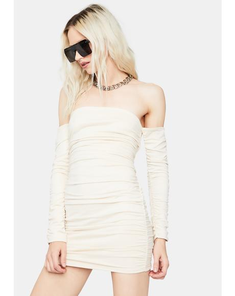 Vanilla Stick to the Drill Bodycon Dress
