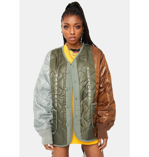 Pleasures Misery Paneled Quilted Jacket