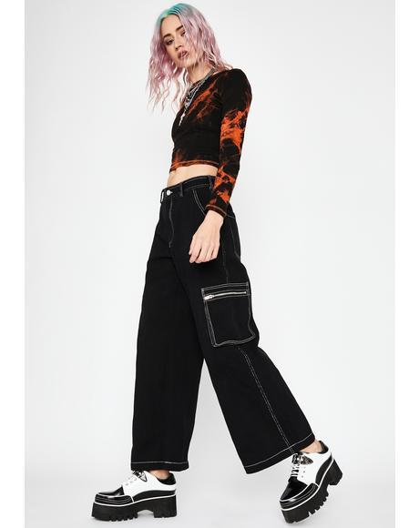 Hard Knox Contrast Stitch Jeans