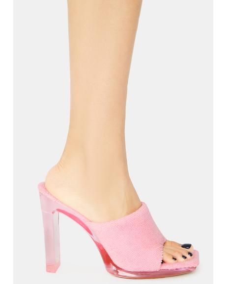 Kiss When I Come Around Terry Peep Toe Heels