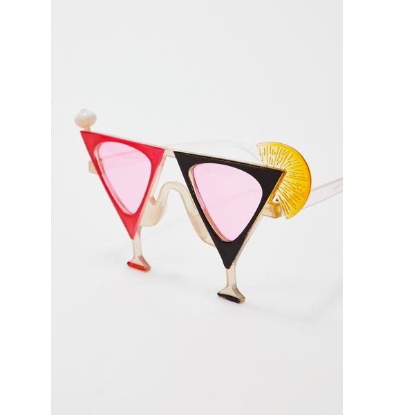 Giant Vintage Lush Martini Glasses