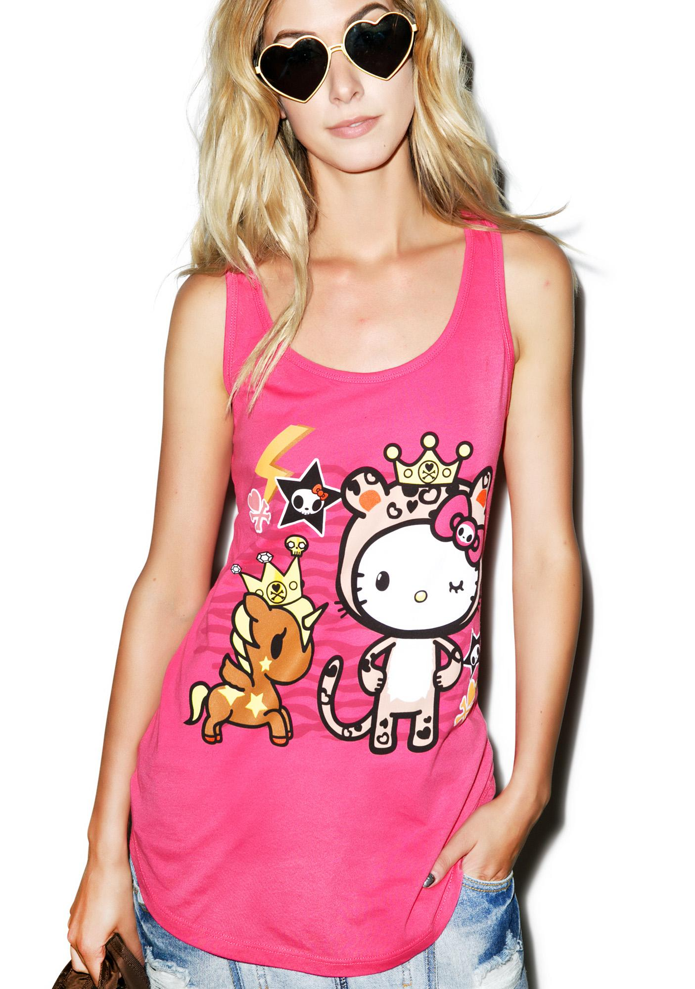 Sanrio Tokidoki X Hello Kitty Safari Tank
