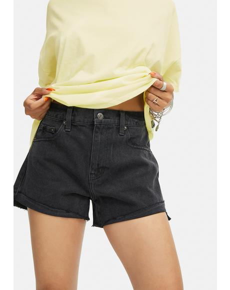Kylee High Rise Relaxed Denim Shorts