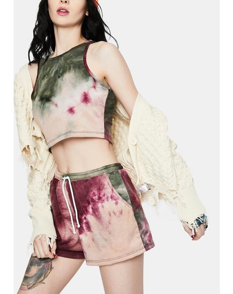 Wild Berry Long Weekend Tie Dye Lounge Shorts