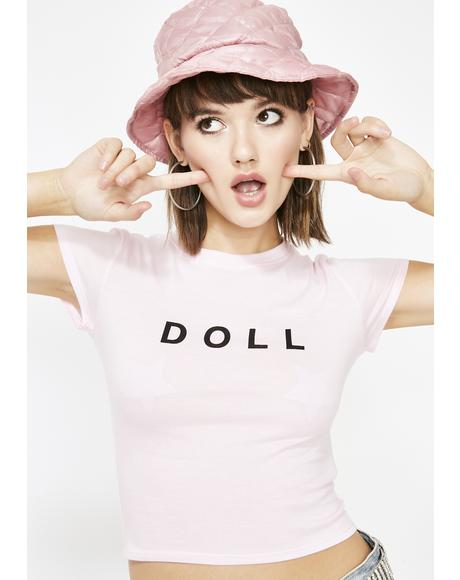 Doll Face Cropped Tee