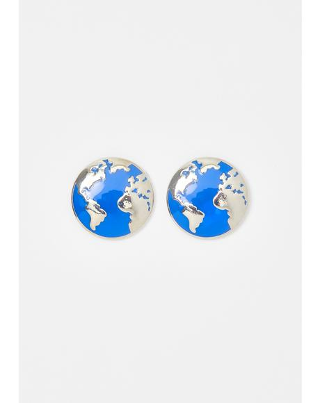Exchange Student Charm Earrings
