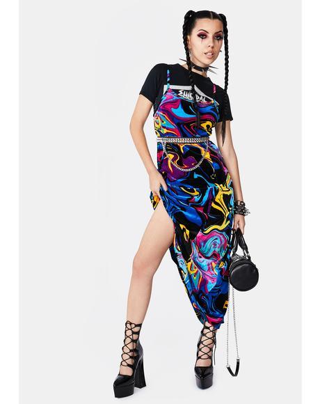 Psychedelia Midi Dress