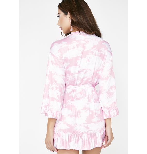 Sugar Thrillz Bliss Vision Satin Robe