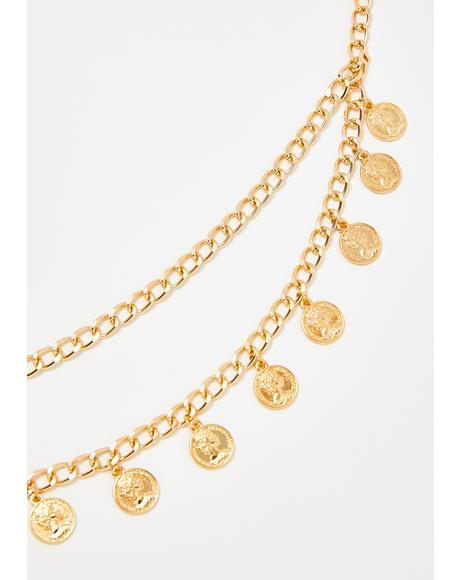 Gettin' Coin Chain Belt