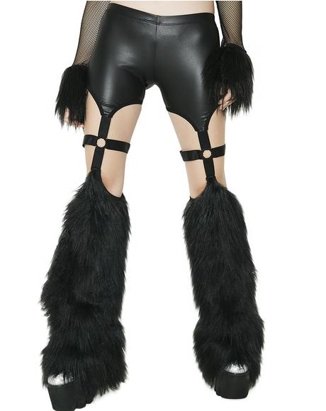 Beatz Machine Fuzzy Cutout Pants