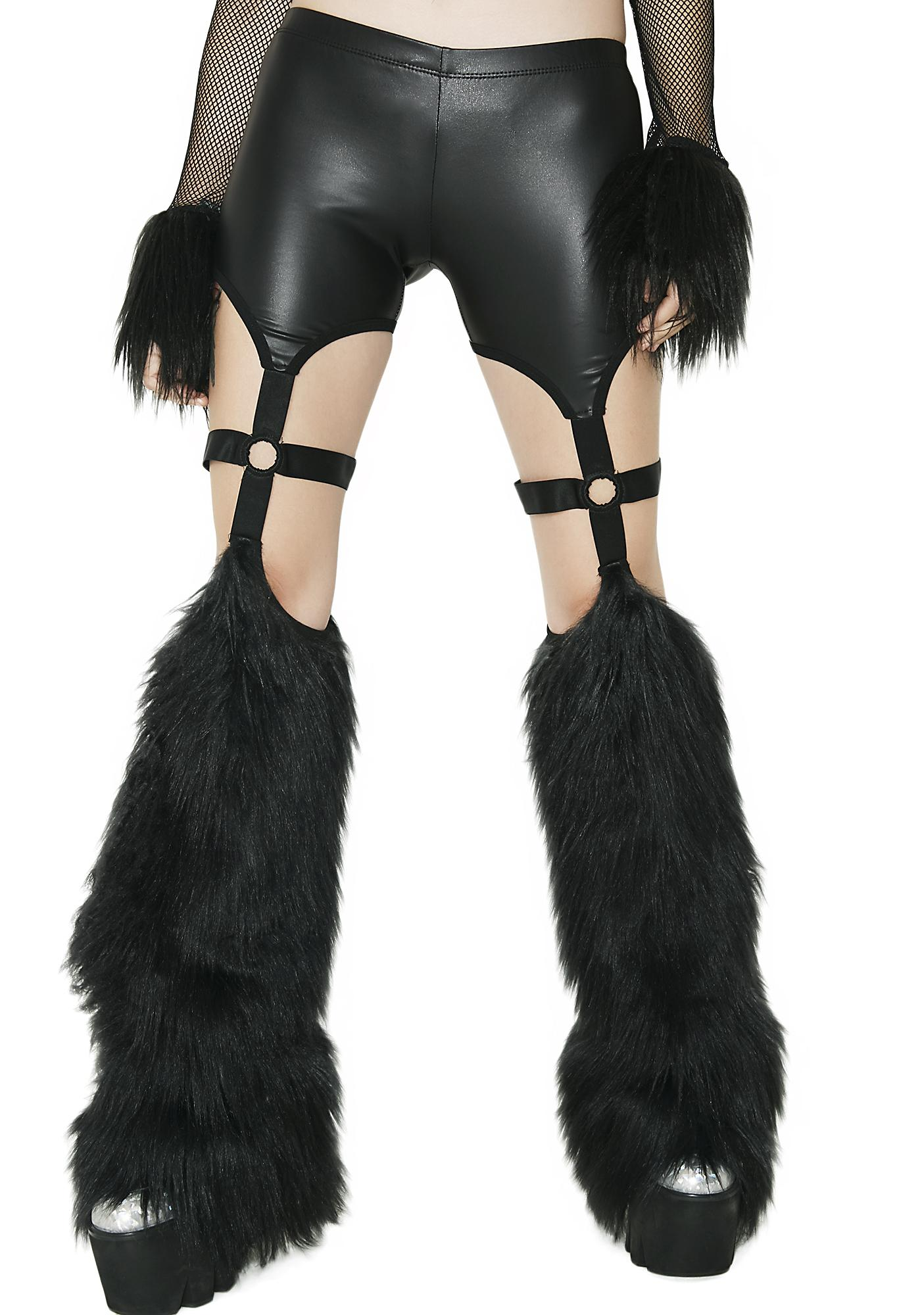 Club Exx Beatz Machine Fuzzy Cutout Pants
