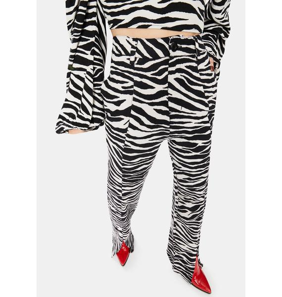 Motel Gesta Zebra High Waist Trousers