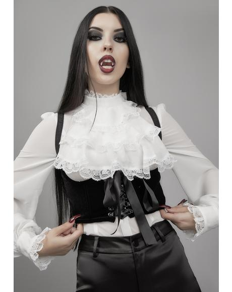 Fall From Grace Velvet Underbust Corset