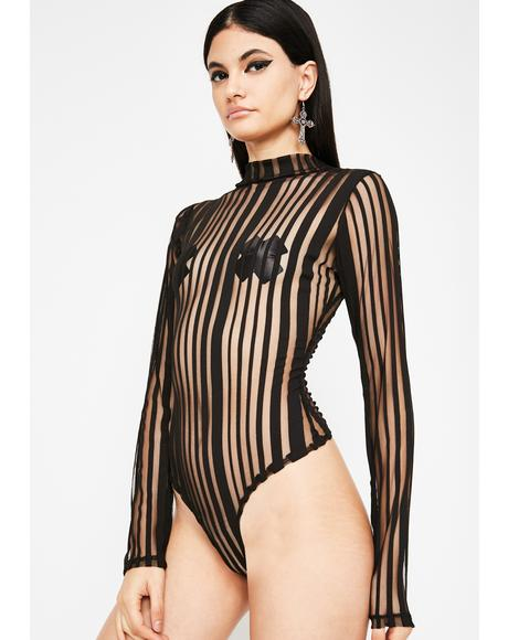 Temptress Remix Stripe Bodysuit