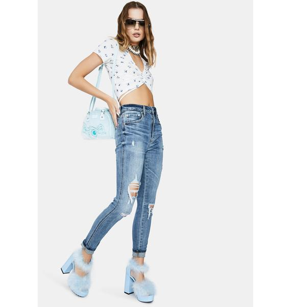Daze Moneymaker Distressed Mom Jeans