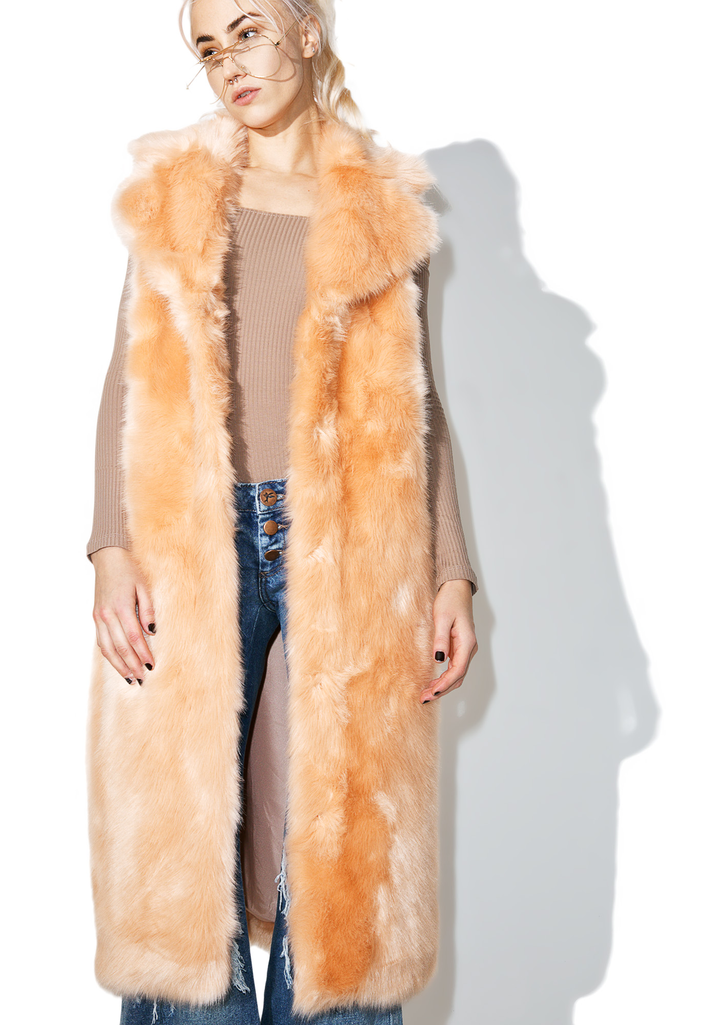 Jakke Martha Sleeveless Duster Coat