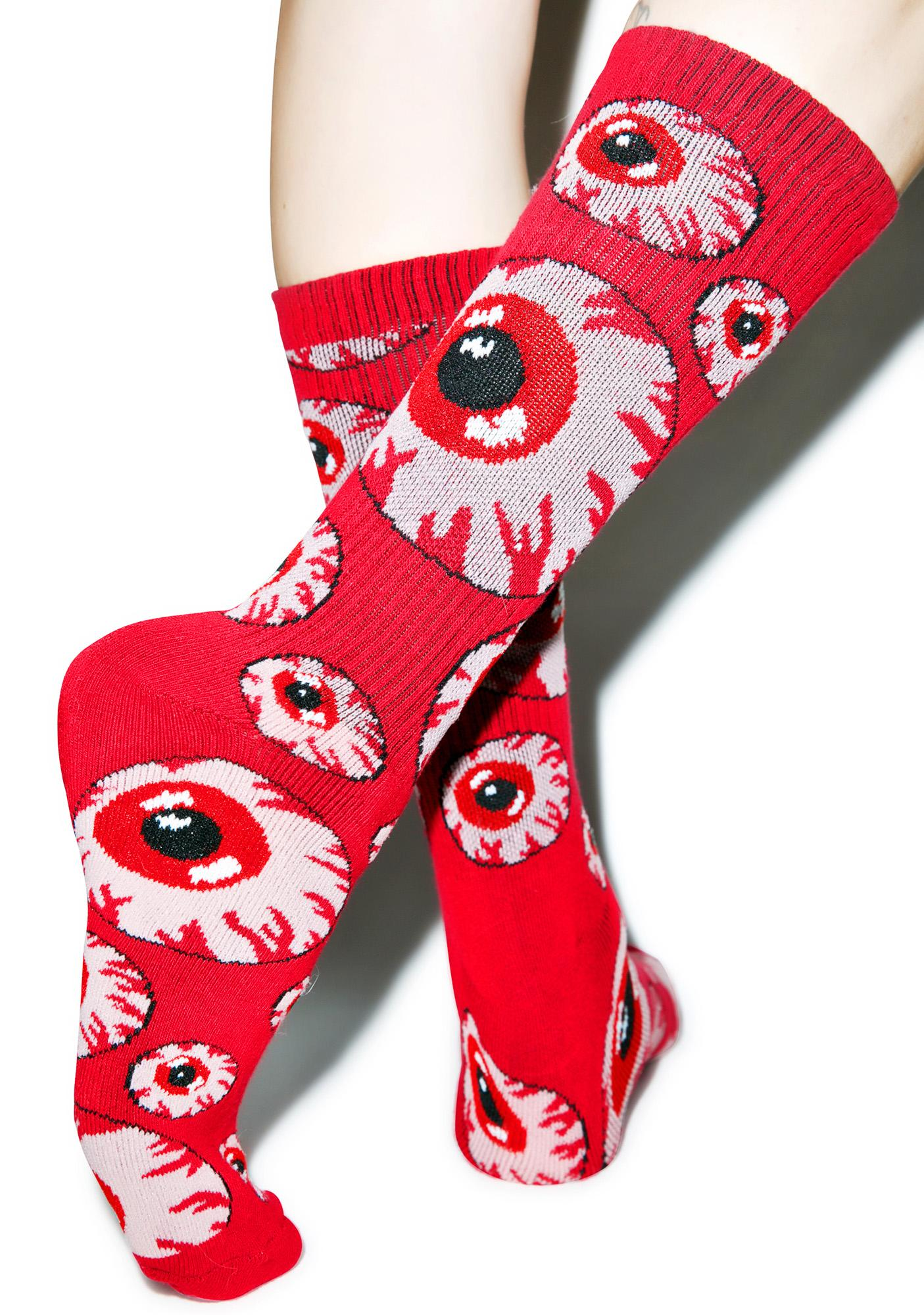 Mishka Tonal Keep Watch Pattern Socks