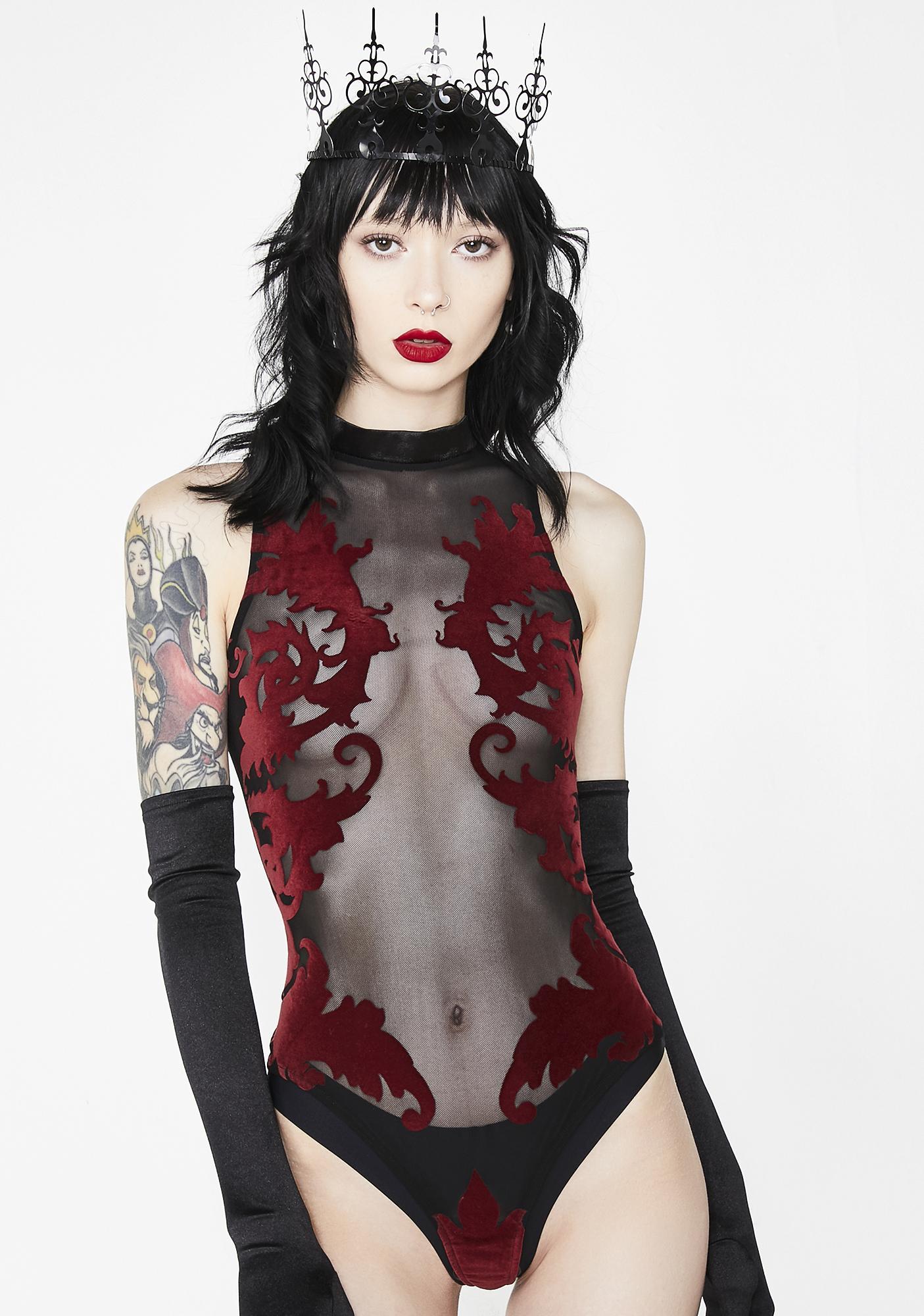 c2e571d909 Sugar Thrillz Enchantress Velvet Bodysuit