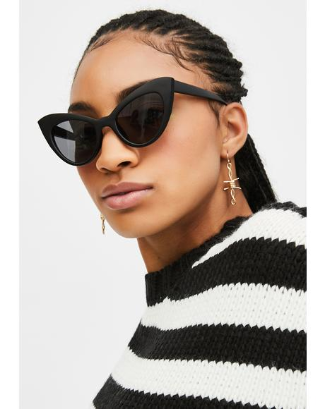 Onyx Prowling Around Cat-Eye Sunglasses