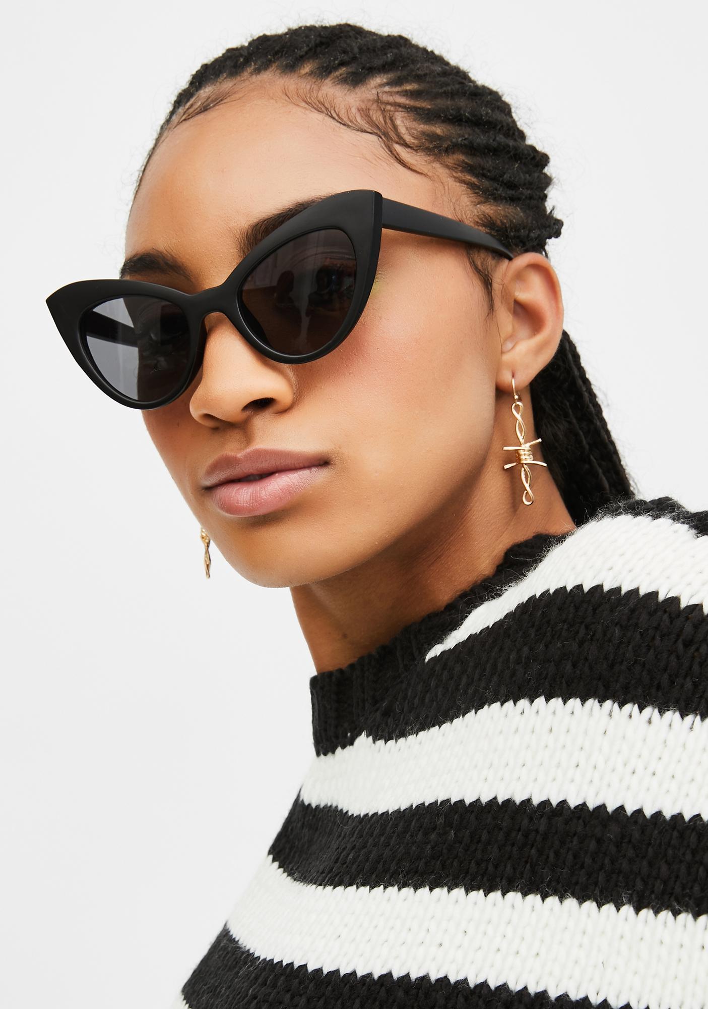 Onyx Prowling Around Cat-Eye Sunglasses