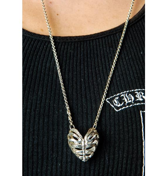Stolen Girlfriends Club Fossil Heart Pendant