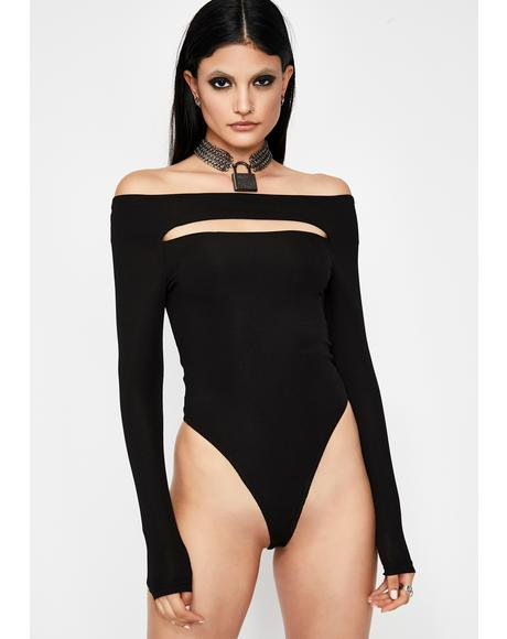 Dark Venus Delight Cutout Bodysuit
