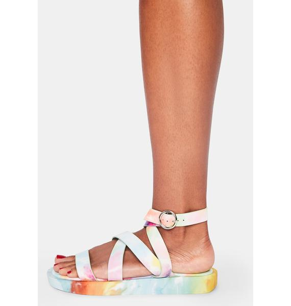 Take A Roadtrip Tie Dye Sandals