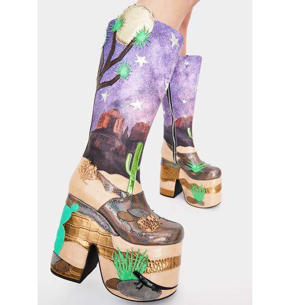 Club Exx Stellar Astro Valley Platform Boots