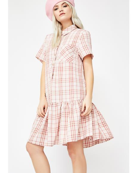 Never Settle Plaid Dress