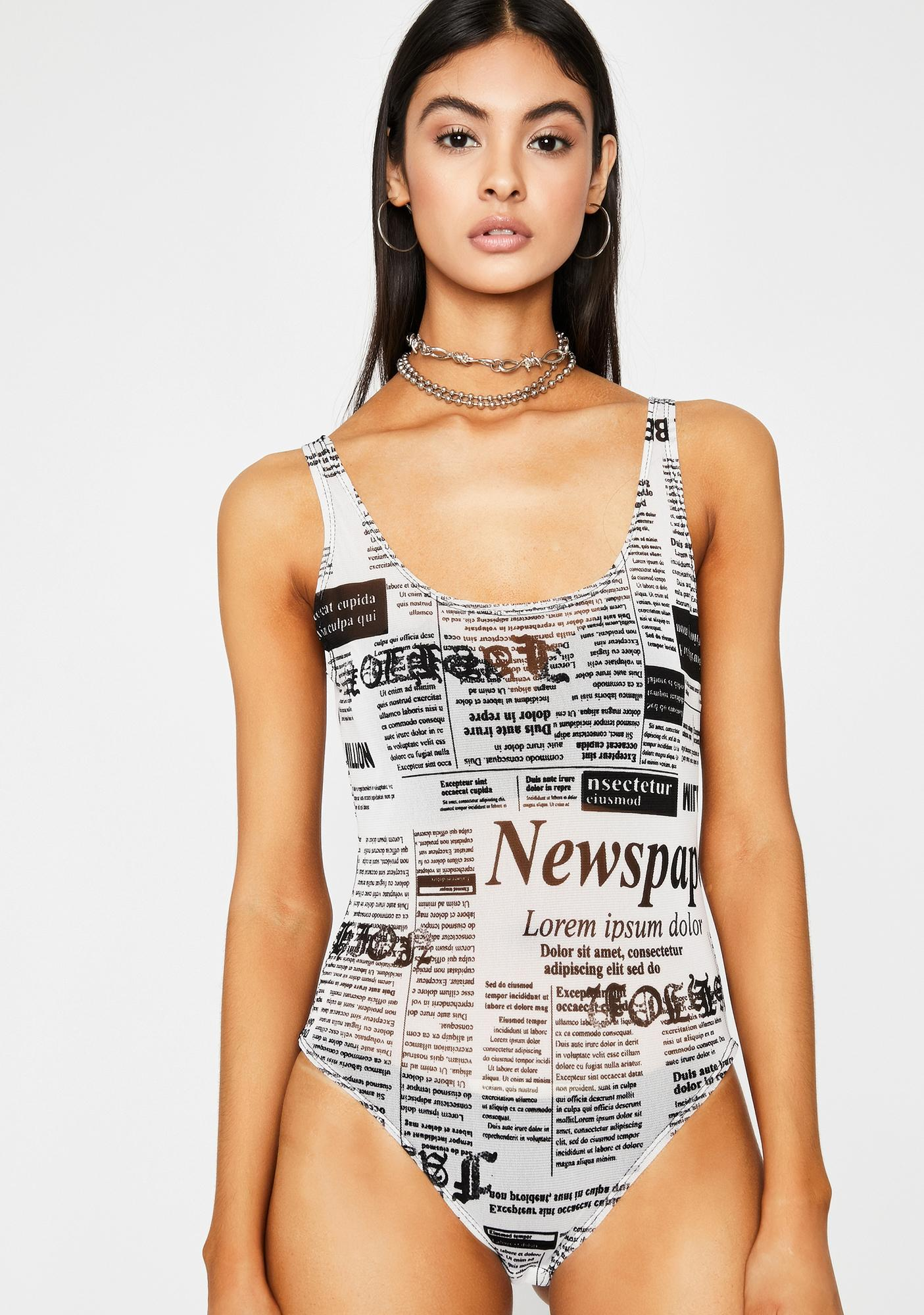 Blurred Visionz Sheer Bodysuit