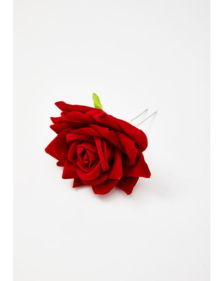 Final Rose Hair Pin