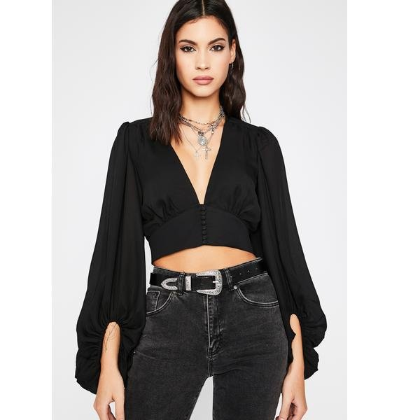 Baby Come Back Crop Blouse
