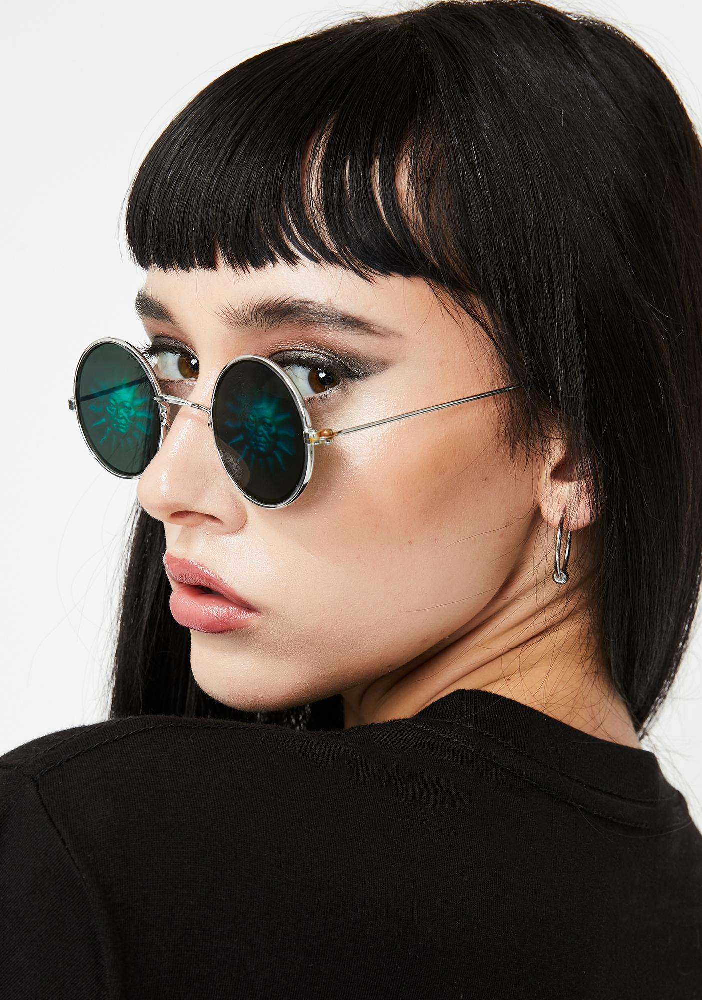Replay Vintage Sunglasses Saw The Sun Hologram Sunglasses