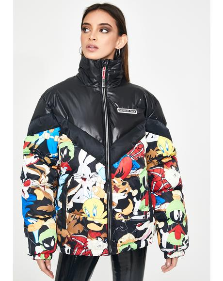 Looney Toons Puffer Jacket