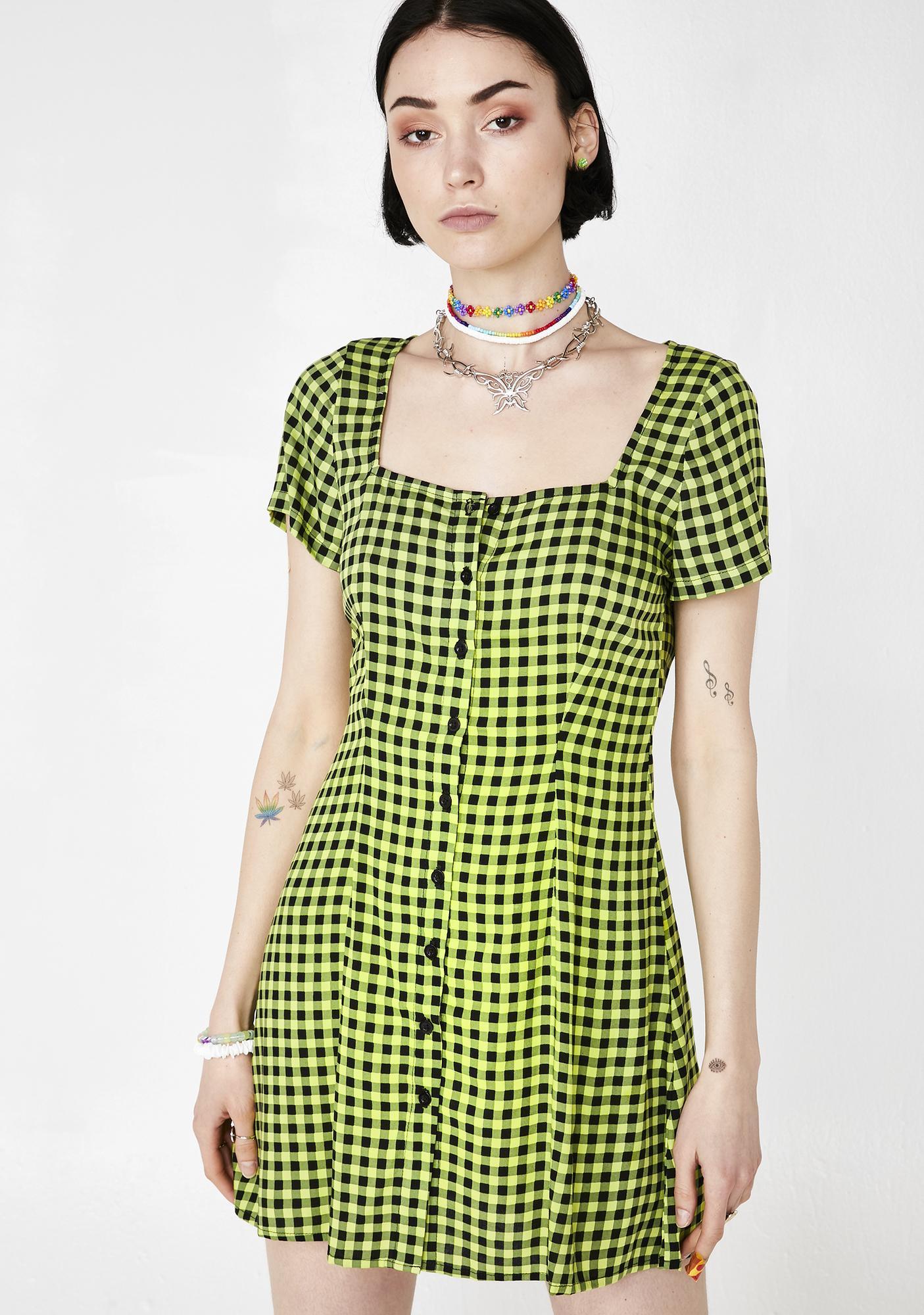 Motel Gingham Zavaca Dress