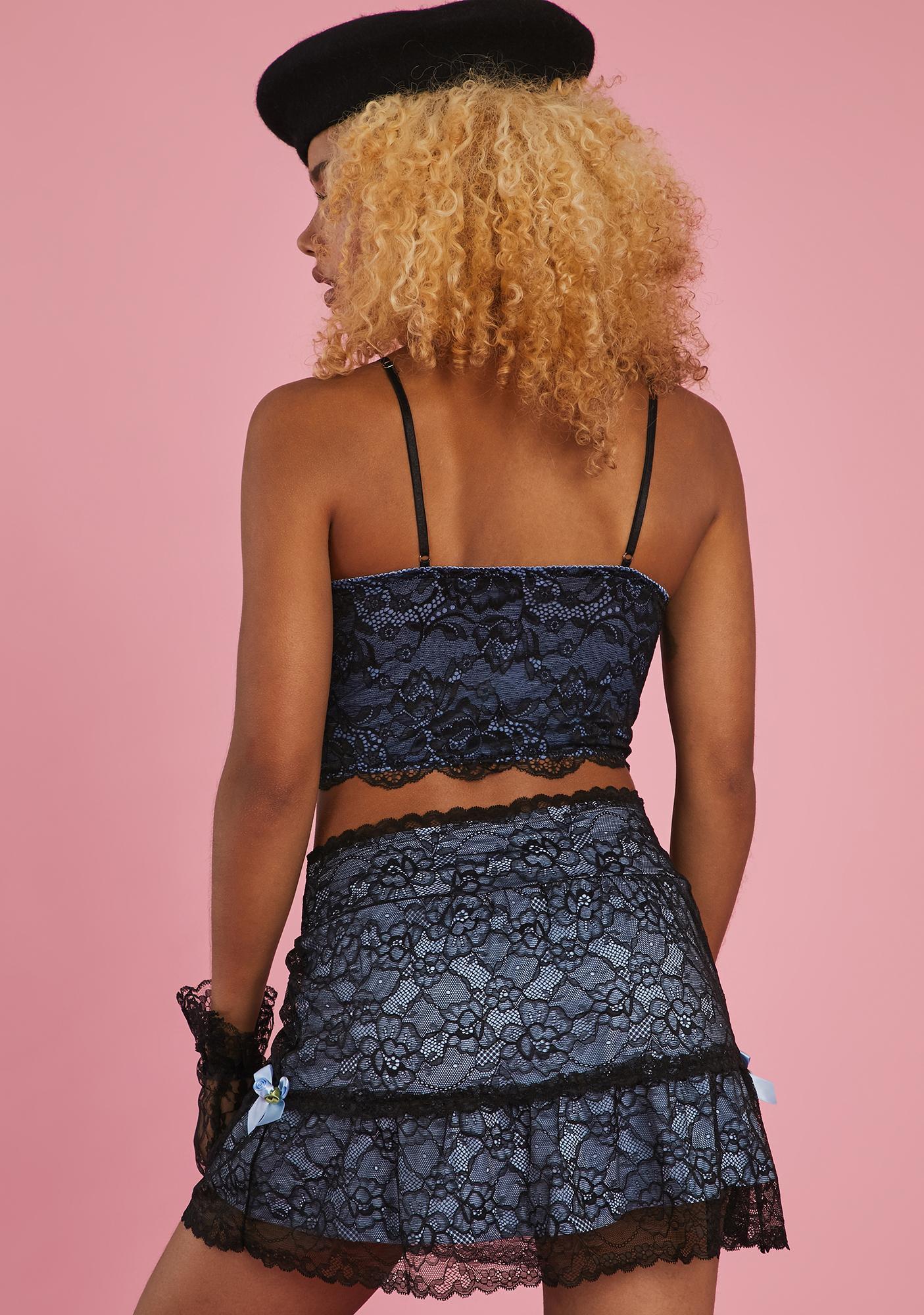 Sugar Thrillz Prim And Proper Mini Skirt