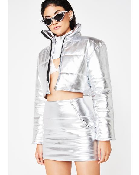 Platinum Bratitude Puffer Skirt