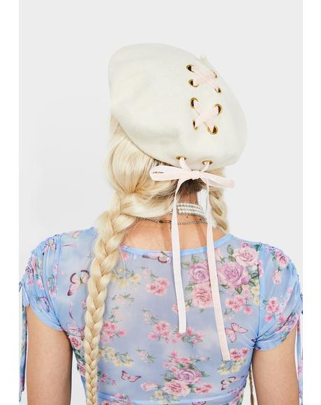 Storyteller Lace Up Beret